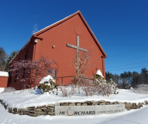 Orchard Community Church in the winter