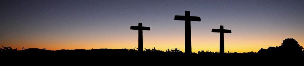three crosses sunrise banner