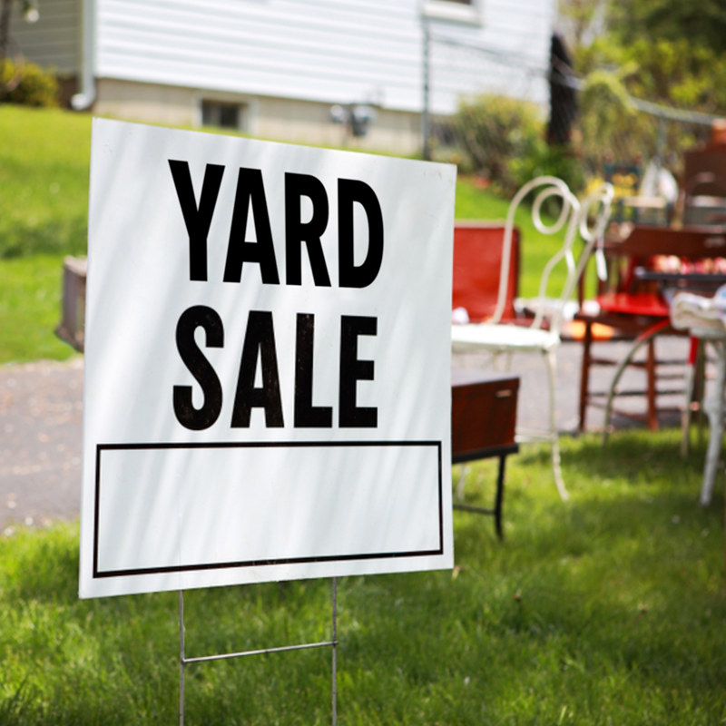 Yard sale at the Orchard Community Church